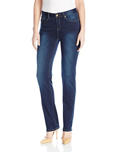 Tribal Women's 5 Pocket Straight Leg Dream Jean, Navy Blast, ()