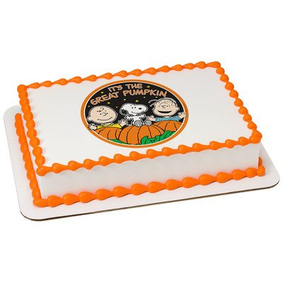 Peanuts The Great Pumpkin Halloween Licensed Edible Cake Topper #37089 (Great Pumpkin Halloween Party)
