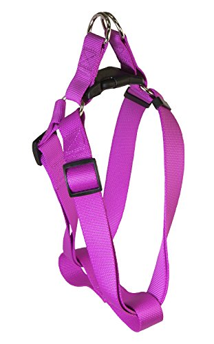 Pet Champion Medium 14-20 inch Chest Bright Polyester Step-In Halter Dog Harness, Magenta Purple (Medium Dog Harness Step In compare prices)