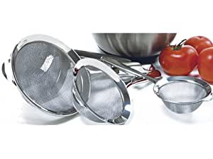 Norpro Stainless Steel 3 Piece Strainer Set