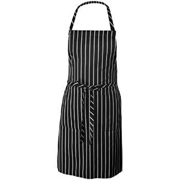 Chef Works Chalk Stripe Bib Apron (CSBA)
