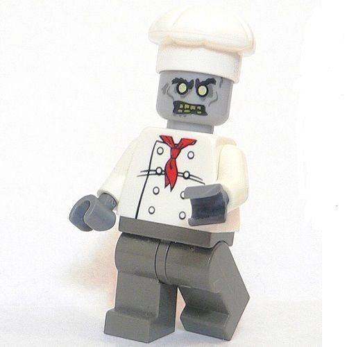 Lego Zombie Chef Cook Custom Minifigure Undead Halloween Ghost Death New