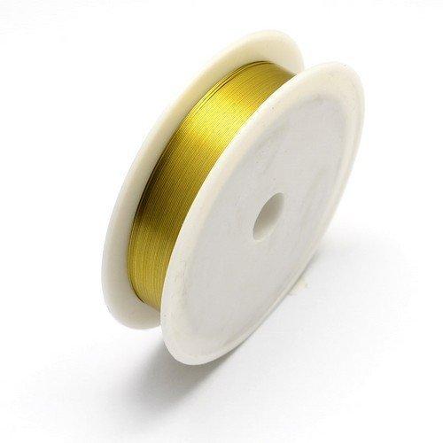 Charming Beads HA16155 1 x Black Iron Craft Wire 20 Metre x 0.3mm Spool