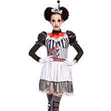 Halloween Creepy Evil Scary Clown Costume for Women (X-Large)