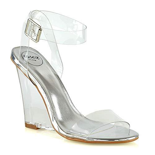 Clear Wedge High Heel - 7