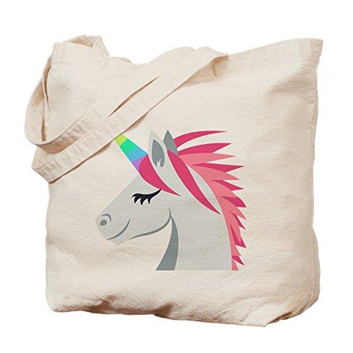 CafePress - Unicorn Emoji - Natural Canvas Tote Bag, Cloth Shopping Bag