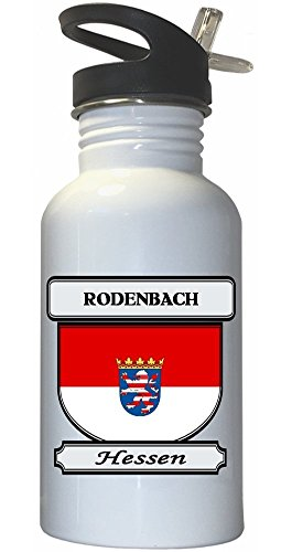 rodenbach-hessen-hesse-city-white-stainless-steel-water-bottle-straw-top