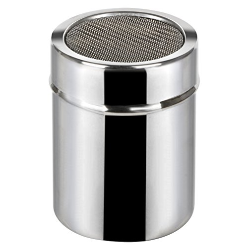 (TRIXES Stainless Steel Fine Flour Icing Cocoa Spice Powder Sifter Shaker)