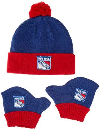 - OTS NHL New York Rangers Pow Knit Cap & Mittens Set, Royal, Infant