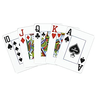 Copag Poker Size Jumbo Index 1546 Playing Cards (Blue Red Setup): Sports & Outdoors