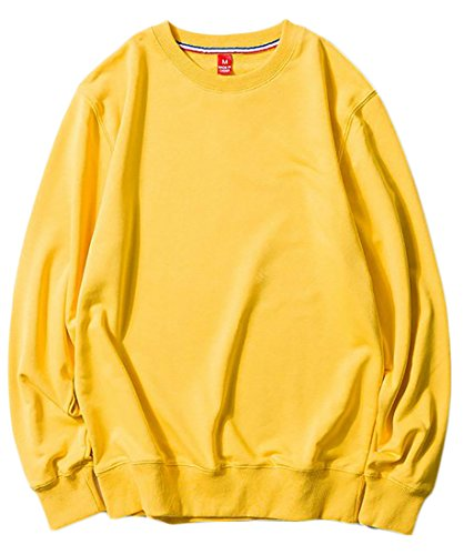 Wholesale Fulok Mens Comfy Long Sleeve Crewneck Oversized Tops Sweatshirt Pullover hot sale