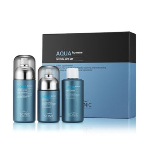 [SCINIC] Aqua Homme Men's Essence Water 180ml + Refill + Multi Fluid 140ml SET ()