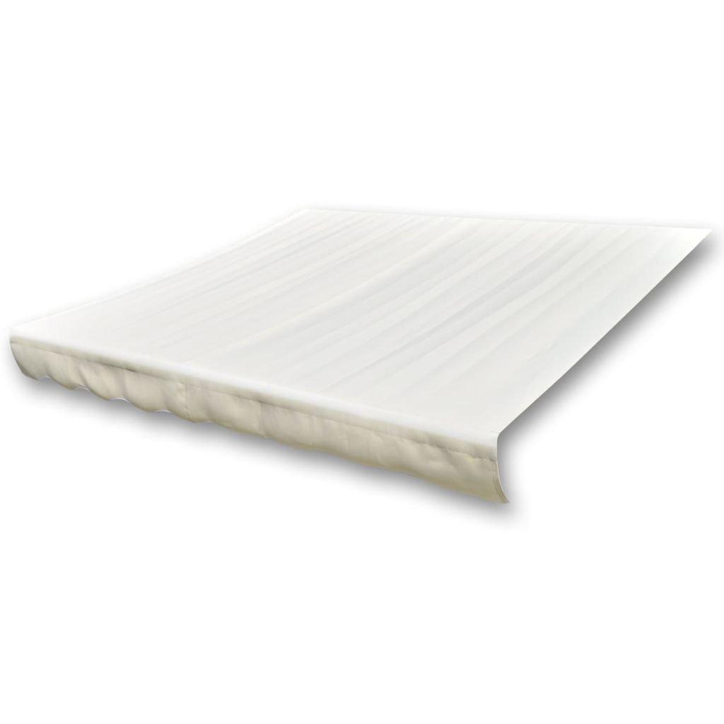 Store Banne En Toile Blanc Crème 4 X 3 M (Cadre Non Inclus)