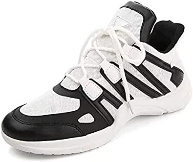New Fashion soft leisure sports casual running shoes white and black pattern