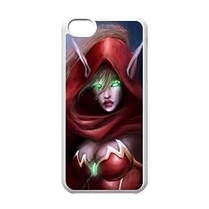 iphone5c White phone case World of Warcraft Valeera Sanguinar WOW9992340