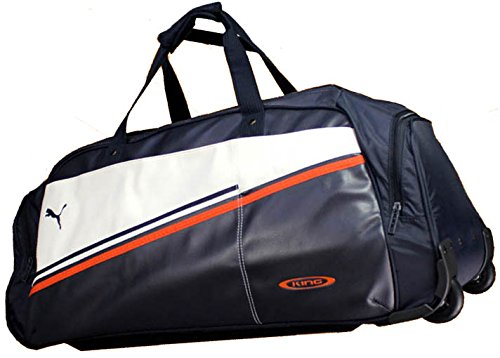 PUMA Sporttasche KING Wheel, dark navy-white-team orange, 78x34x32cm, 65 liters, 068687 10
