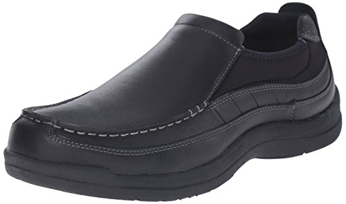 Propet Mens Hugh Slip-on Mocassino Nero