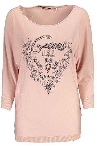 Donna Logo Lea G651 shirt Bn Guess T Ls Basic Rosa wxTqq0I