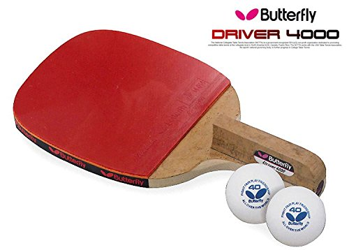 Amazon.com : Butterfly DRIVER 4000 Table Tennis Racket Penholder ...