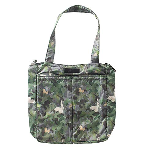 JuJuBe Be Light Tote Bag   Lightweight, Foldable Shoulder Bag with Multiple Pockets   Travel-Friendly Everyday Casual Purse or Diaper Bag   Butterfly Forest
