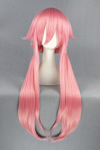 100 cm Color rosa y construcción de madera de larga de flequillo de ratón de las pelucas para Gasai Yuno Mirai Niki de la: Amazon.es: Belleza