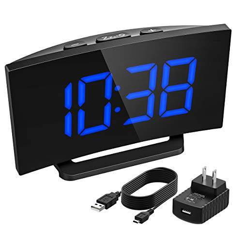 Mpow Digital Alarm Clock, Curved Screen Clock with 3.75''Dia