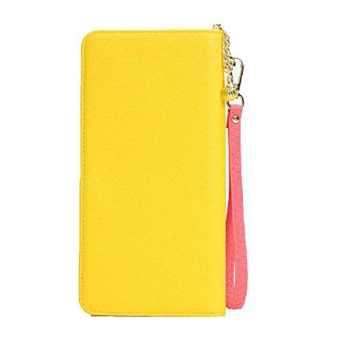 Jia Qing Cartera Grandes Cartas Multi-cartas Grandes Cartas Cartera Cuadrada Yellow