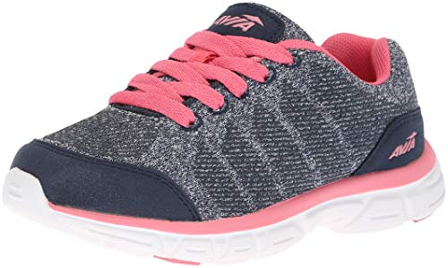 Avia Girls' Avi-Rift Sneaker, True Navy/White/Crayon Pink, 11 Medium US Little Kid