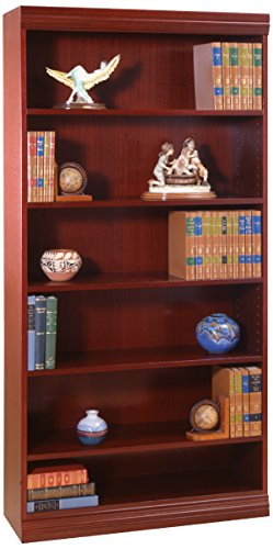 (Norsons Industries Jefferson Traditional Wood Veneer Bookcase with Heavy Duty Shelf, 36-Inch, Mahogany)