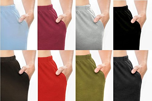 Women's 2-pack Sport and Lounge Knit Petite Pants with pockets , Assorted, (Sport Knit Pants)