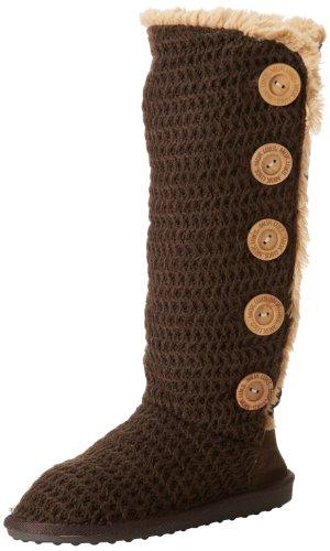 Mukluks Women's Malena Crochet Knit Button Down Boot - Ja...