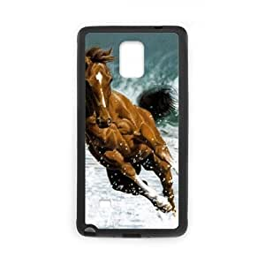 Diy Running Horse Phone Case for samsung galaxy note 4 Black Shell Phone JFLIFE(TM) [Pattern-2]