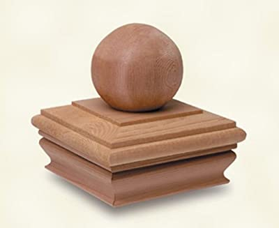 Woodway Products 870.3131 6-by-6-Inch Cedar Flat Top with 3-Inch Ball Post Cap