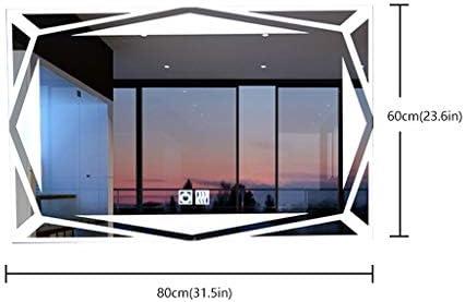 JKAD Espejo Colgante con Luces Espejo de vanidad Iluminación de Luces LED nórdicas Espejos Decorativos antiniebla de Toque Cuadrado Elegante for el Dormitorio (Size : Add Time): Amazon.es: Hogar