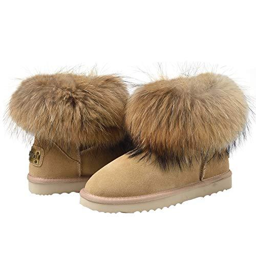 De Neige Chaudes Boots Shenduo Femme D9251 Bottes Mini Bottines Classique Hiver Sable Fourrées Fourrure T5fZqwf