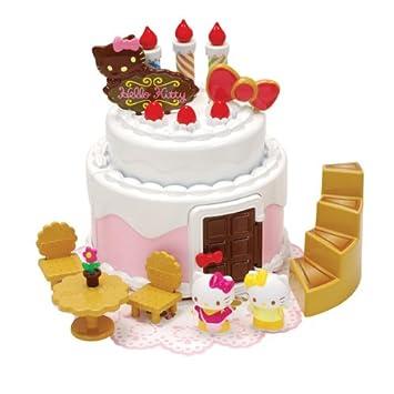 Stupendous Hello Kitty Birthday Cake House Amazon Co Uk Toys Games Funny Birthday Cards Online Drosicarndamsfinfo