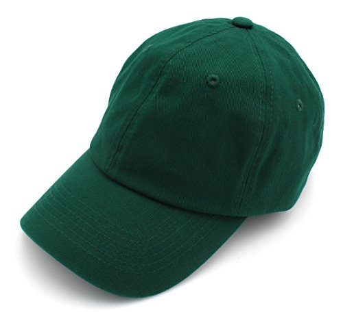 BRAND NEW 2016 Classic Plain Baseball Cap Unisex Cotton Hat For Men & Women Adjustable & Unstructured For Max Comfort Low Profile Polo Style  Unique & Timeless Clothing Accessories By Top Level, Dark Green, One Size (Dark Green Baseball Hat)