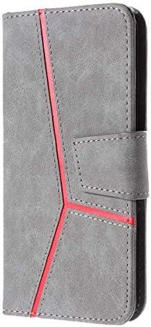 CUSKING Galaxy S7 対応 ケース, 高級 手帳型 PUレザー ケース, Samsung Galaxy S7 衝撃吸収 保護ケース 財布型 ケース スタンド機能 カード ポケット 付き, グレー