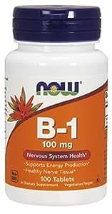 NOW Vitamin B-1 (Thiamine) 100 mg,100 Tablets