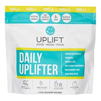 eee91979763 Uplift Food Daily Uplifter - Organic Prebiotic + Probiotic Mood and Gut  Health Psychobiotic Vanilla Powder