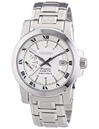 Premier Kinetic Direct Drive Stainless Steel Case and Bracelet Silver Tone Dial Date Display