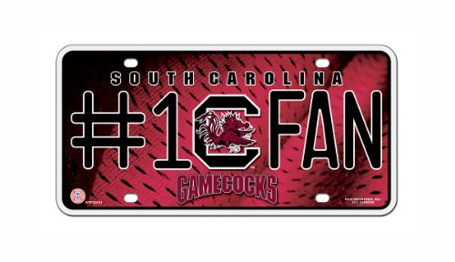 NCAA South Carolina Gamecocks #1 Fan Metal Auto - South In Outlet Carolina
