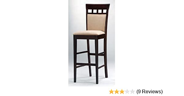 Set of 2 Coaster Home Furnishings Contemporary Style Bar Stools Cappuccino Finish 24