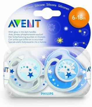 Philips Avent SCF131/17 - Chupete nocturno de silicona (6-18 meses, brilla en la oscuridad): PHILIPS AVENT: Amazon.es: Bebé