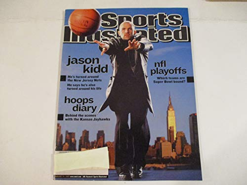 JANUARY 20, 2002 SPORTS ILLUSTRATED MAGAZINE FEATURING JASON KIDD OF THE NEW JERSEY NETS *HE'S TURNED AROUND* *HE SAYS HE'S ALSO TURNED AROUND HIS LIFE* (Jason Nets Jersey Jersey Kidd New)