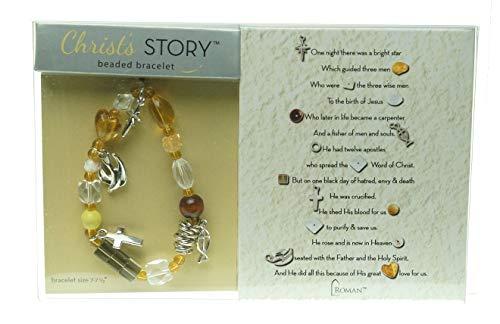 Roman Inc. NEW Christ's StoryTM Beaded Bracelet Large -7 1/2