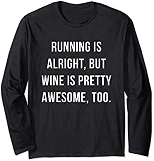 [Featured] Running Wine Is Awesome - Running Wine Long Sleeve in ALL styles | Size S - 5XL