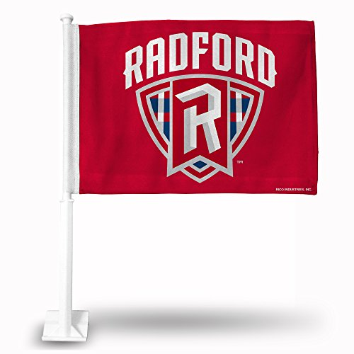 NCAA Radford Bobcats Car Flag, Red, with White Pole by Rico