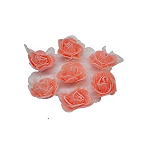 Handmade Foam Flowers Artificial Foam Rose Flower Head Wedding Home Decoration DIY Scrapbooking Crafts,FH07 Peach 92