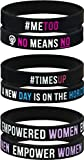 AMPM Collective | Silicone Motivational Wristbands | Rubber Inspirational Quote Bracelets | Unisex for Men Women Teens | Female Empowerment MeToo TimesUp Movement (6/12/24...